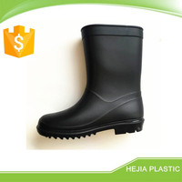 matt black classical water shoes eco-friendly pvc rain shoes top new gumboots children candy lovely pvc rain boots