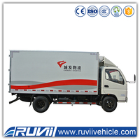 2016 New model Commercial Delivery Cargo Truck cargo transport box truck for sale