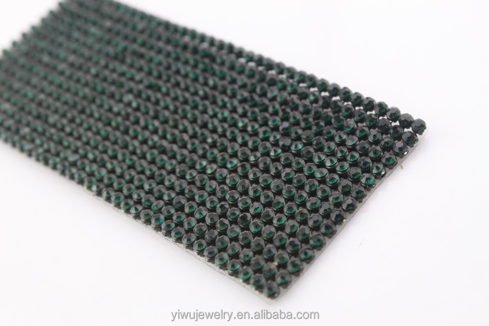 Wholesale Fabric 2mm ss6 Rhinestones Mesh Fabric for Clothing Decoration