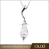 OUXI Jewelry Pendant White 925 Silver With Austrian Crystal