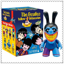 plastic cartoon vinyl toy OEM The beatles yellow submarine for favor