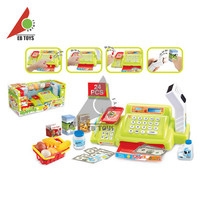 Cash registers pretend plastic educational toy with scanners shopping set