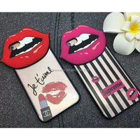 Newest phone case For iPhone 6 6S Plus, red lips phone case for iphone