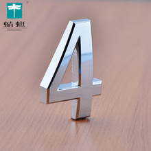 Wholesale optional number combination chromed hotel room sign