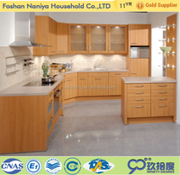 Modern small kitchen designs solid core door slab maple birch solid wood kitchen cabinet for kitchen cabinets factory outlet