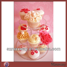 Acrylic clear cupcakes stand holds