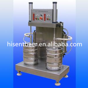 The quality of the double station beer barrel filling machine of Qingdao marine beer equipment is reliable.