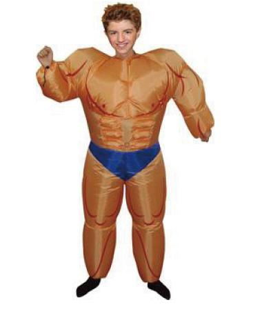 Cheap price muscle inflatable costumes male costume for adult