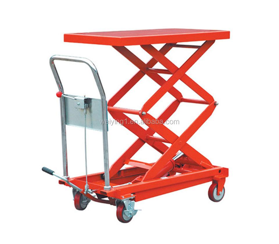 Hydraulic Dolly Lift : Manual hydraulic lift trolley