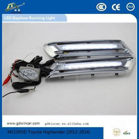Factory Top Quality Flexible Ultra Brightness Auto LED Daytime Running Light / LED DRL Toyota Hightlander(2012-2014)