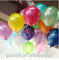 "round shaped 10"" colour latex balloons for advertising"