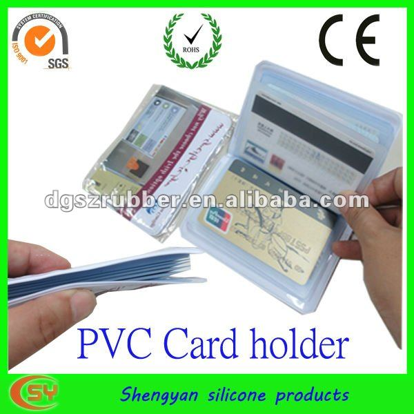 clear pvc credit card holder for promotion
