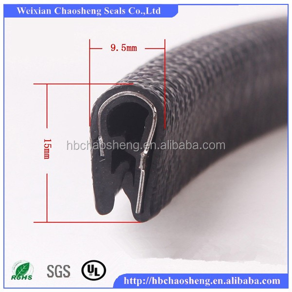 u shaped edge trims protective door window frame epdm car rubber seals