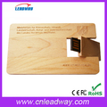 Eco-friendly bamboo woooden card bamboo usb flash disk2.0/usb3.0