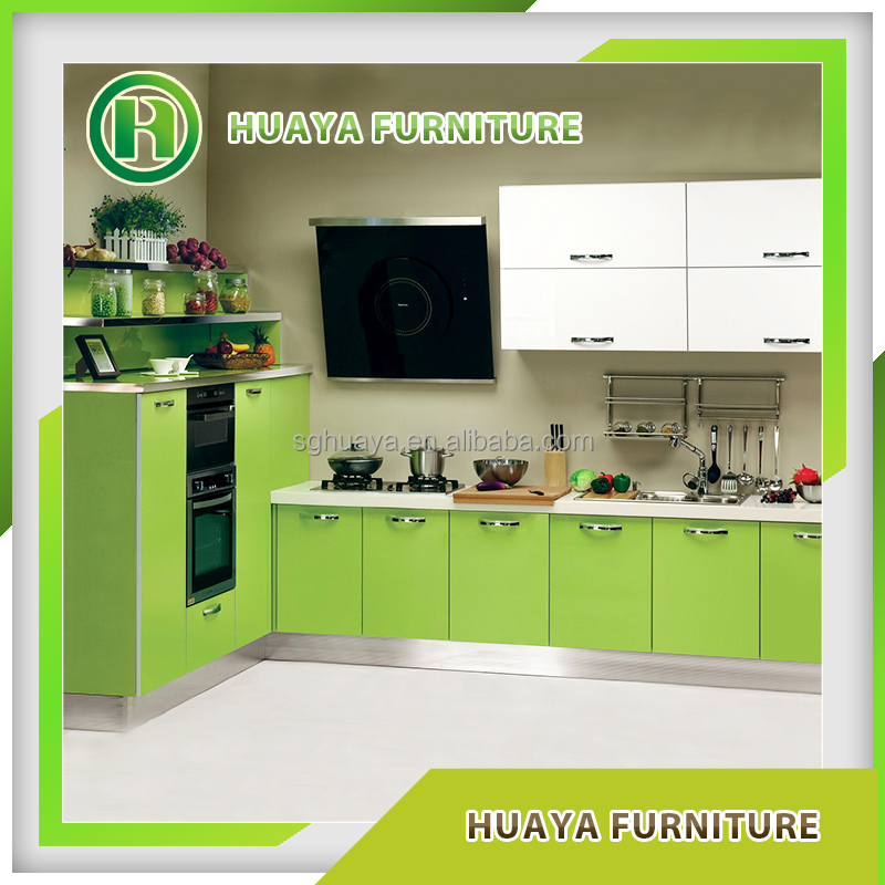 Modular pvc laminated whole kitchen cabinet set buy for Kitchen cabinet sets