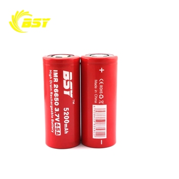 High rate discharge 18650 li ion battery 26650 3.7v 45A 5200 mah BSY battery for rechargeable li ion battery