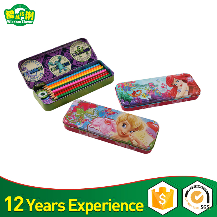 Wholesale Printing Cartoon Tin Pencil Case With Low Price