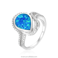 China Opal Jewelry Finger Ring Gemstone