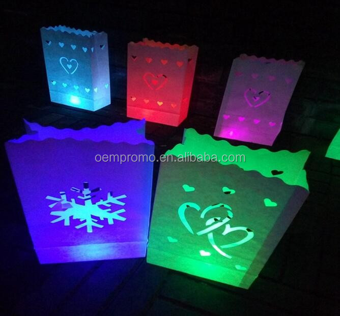 OEMPROMO Handicraft light paper candle lantern bags