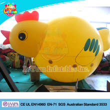 Yellow lovely giant inflatable chicken for advertising