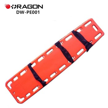 Medical plastic durable spine board stretcher for adult and child