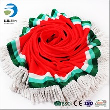 China supplier high quality printed round beach towel with bag