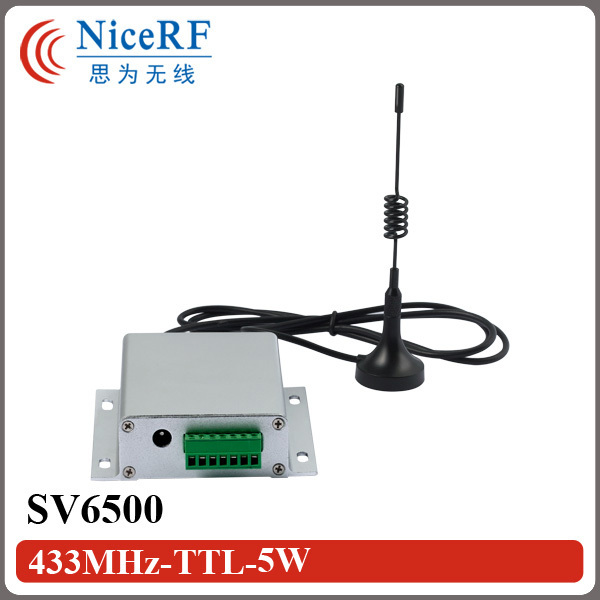 SNR6500 - 5W 8km 433MHz long range wireless modem with TTL / RS232 / RS485 interface