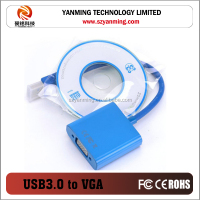 USB 3.0 TO VGA adapter cable for CRT/LCD monitor,projector