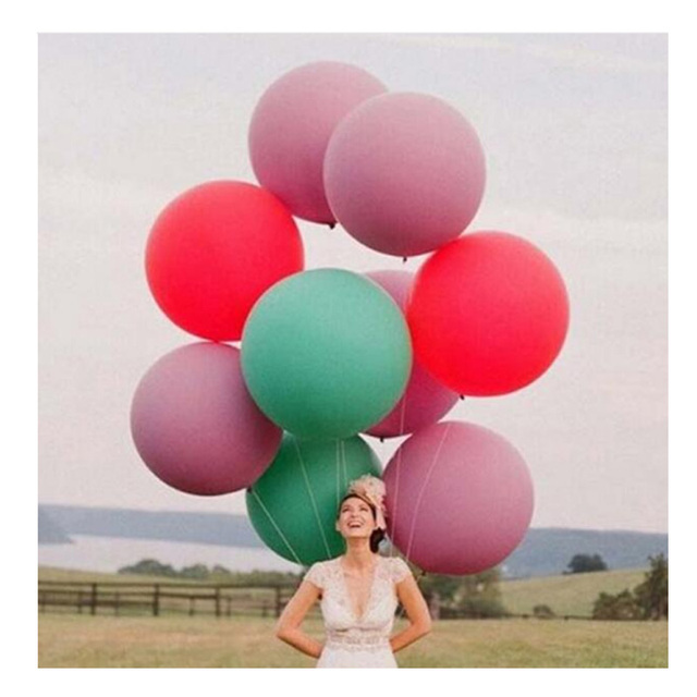 "1PCS Wedding Decoration 36"" 90CM Giant Helium Big Latex Balloon Party Large Giant Balloons Decoration wedding Party Balloons"