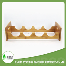Wholesale 4 bottle tabletop bamboo wooden wine storage rack