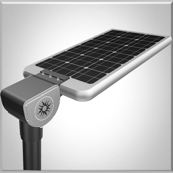 replacement led 15W 20W 25W 30W 35W 40W All in one integrated solar piers lights photocell with pole design