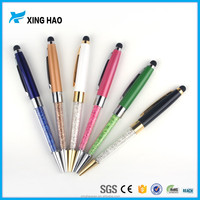 Alibaba china new crystal pen touch with logo 2 In 1 capacitive crystal ball stylus pen