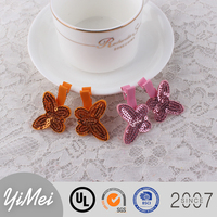 Cute Sequined Butterfly hair clip for lovely girls