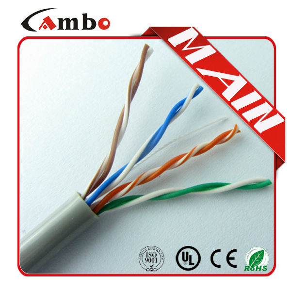 High performance any color acailable customized printings cat5 cable