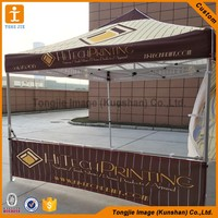 Outdoor exhibition metal frame folding tent,promotion pop up canopy