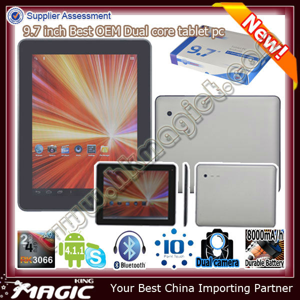 Best quality dual core rockchip rk3066 mini pc cortex-a9 1.6ghz tablet