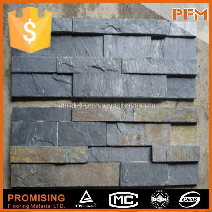 For interior floor use chinese natural ledger cladding slate stone