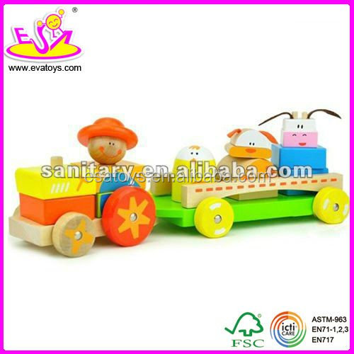 wooden building blocks with EN71,educational toy W15C001