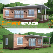 Prefabricated luxury container house prices / Modern living house 2unit 40ft prefab shipping container house for sale