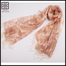 Fashion Paisley Print Polyester Lady Scarf