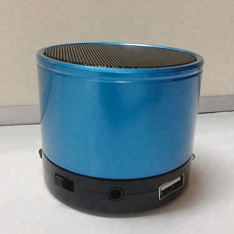 Portable Mini Speaker Metal Rubber Wireless Smart Hands Free Speaker For iPhone for Samsung for Tablet PC