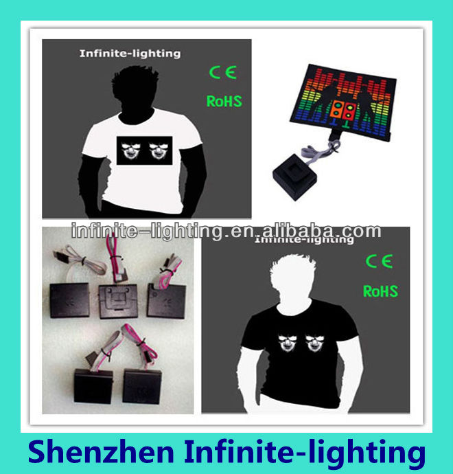 2014 Hot Selling Fashion led T-Shirt Ban Shirts/fashion led tshirt