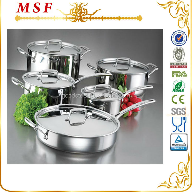 Elegant looking 10 pcs stainless steel cookware