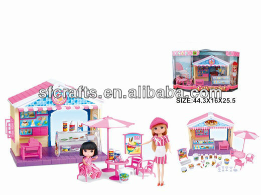 2013 new plastic voice control Ice Cream house toys w/light & music for children