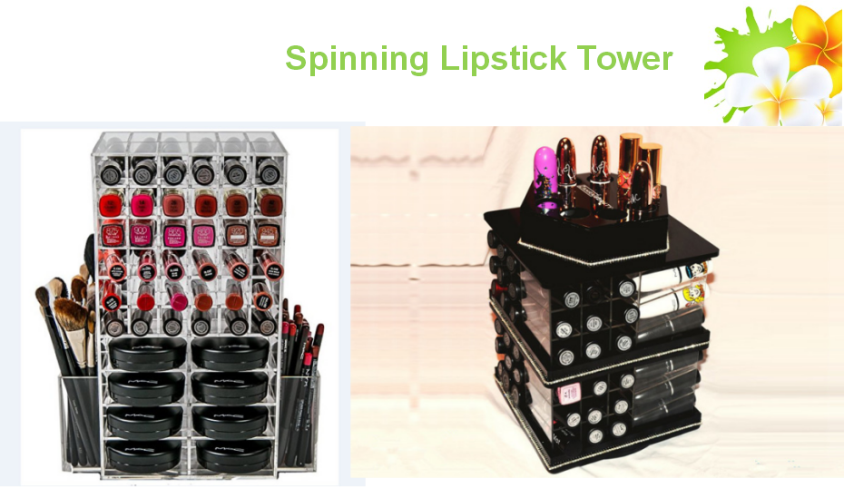 spinning lipstick holder