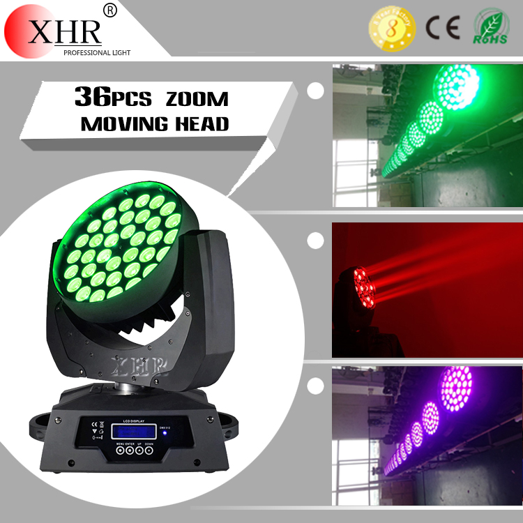 36 pcs 10watt zoom led moving head light dragon mart dubai disco lights