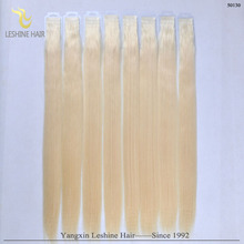 big promotion cheap double drawn virgin clear band tape hair extensions