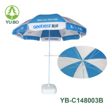 48 inch windproof beach umbrella/beach umbrella with windproof frame structure
