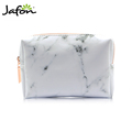 New arrival top quality Professional White marble make up beauty cosmetic bag pouch