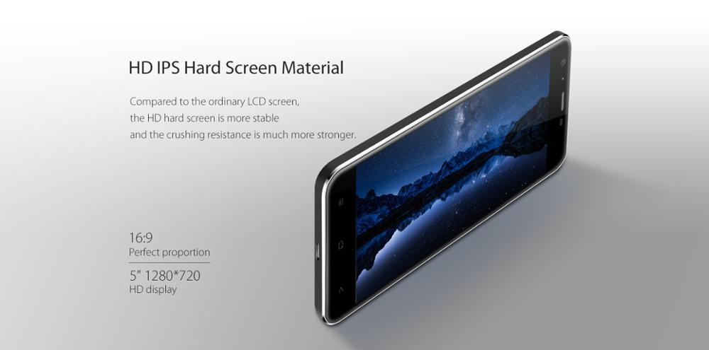 "Blackview A7 Pro Dual Rear Cameras Mobile Phone 5.0"" HD MTK6737 Quad Core Android 7.0 2GB RAM 16GB ROM 8MP Cam 2800mAh Battery"